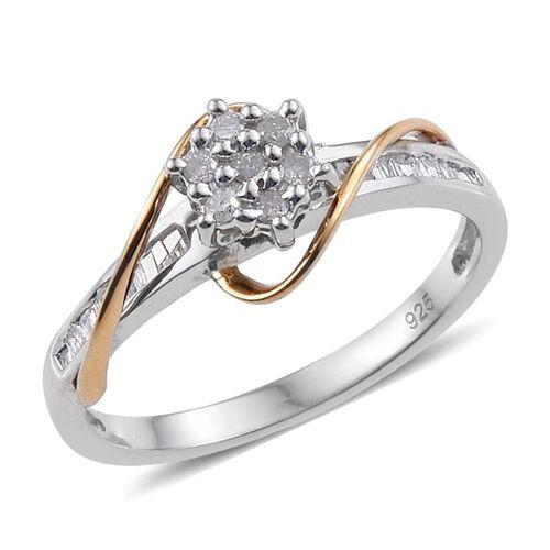 Diamond (Rnd) Ring in Sterling Silver 0.245 Ct.