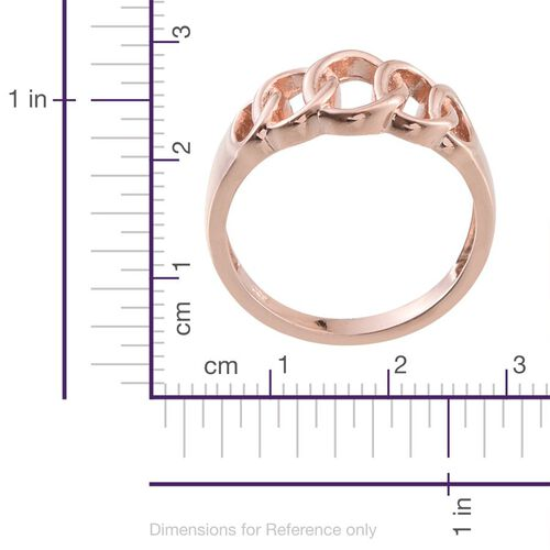 Rose Gold Overlay Sterling Silver Ring, Silver wt 3.83 Gms.
