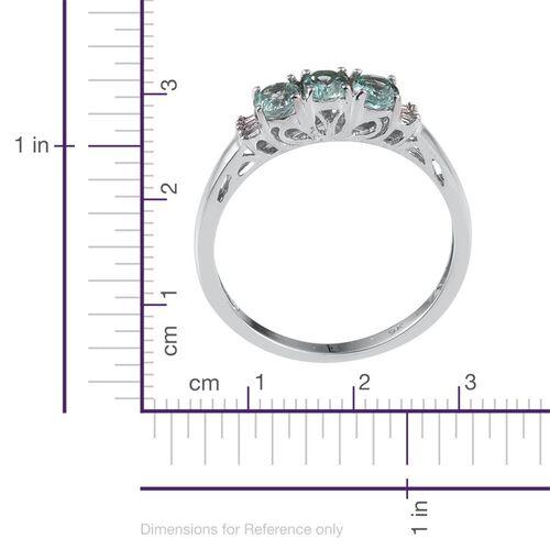9K W Gold Boyaca Colombian Emerald (Ovl), Diamond Ring 1.000 Ct.