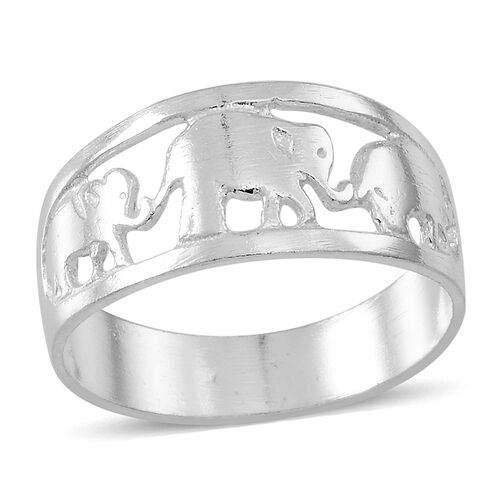 Thai Sterling Silver Elephant Band Ring, Silver wt 3.54 Gms.