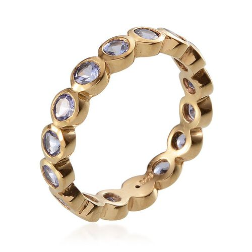 Tanzanite (Rnd) Full Eternity Ring in 14K Gold Overlay Sterling Silver 1.500 Ct.