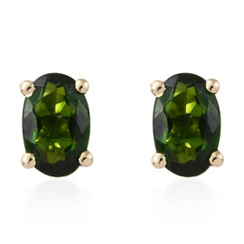 Russian Diopside (1.00 Ct) 9K Y Gold Earring  1.000  Ct.