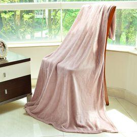 Super Bargain Price- Superfine Antique Pink Colour Microfibre Blanket 150x200 cm