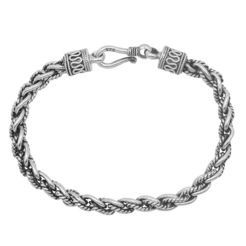 Royal Bali Collection Sterling Silver Bracelet (Size 8), Silver wt 22.79 Gms.