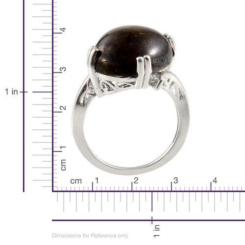 Labradorite (Ovl 5.75 Ct), Tanzanite Ring in Platinum Overlay Sterling Silver 6.750 Ct.