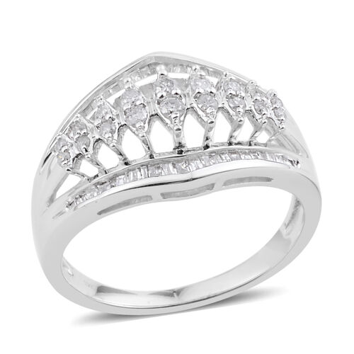 NewYork Close Out Deal - 9K W Gold Diamond (Rnd) Ring 0.500 Ct.