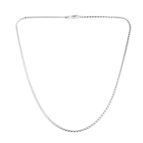 JCK Vegas Collection Sterling Silver Mirror Popcorn Chain (Size 20), Silver wt 5.50 Gms.