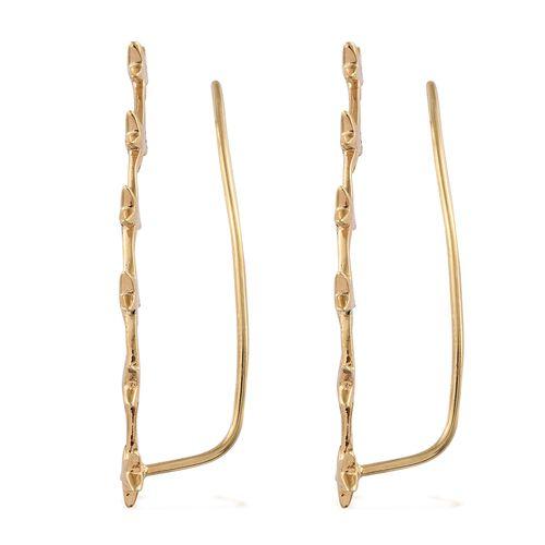 Silver Little Star Ear Climber Earrings in Gold Overlay, Silver wt 3.12 Gms.