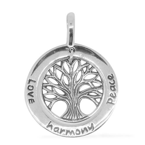 Hand Crafted - Limited Edition - Sterling Silver Tree of Life Pendant, Silver wt 4.10 Gms.