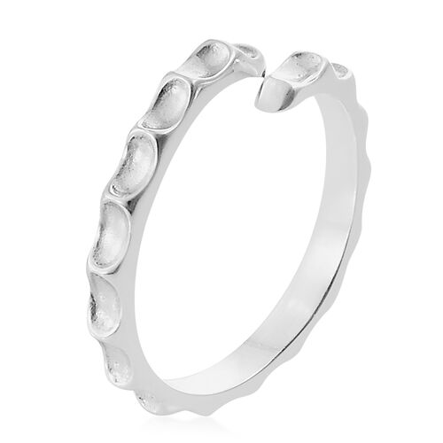 Silver Stacker Ring in Platinum Overlay