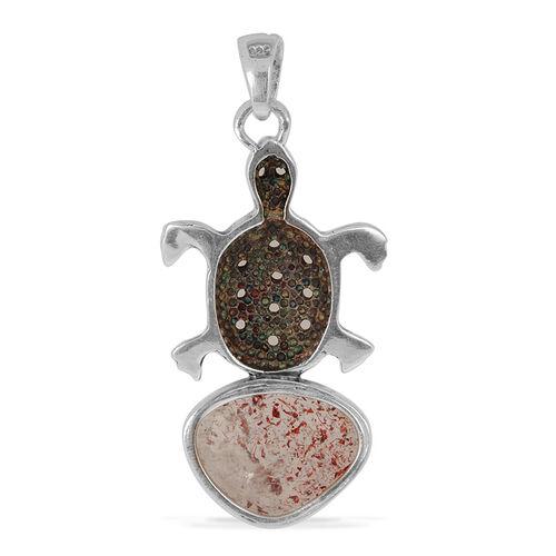 Jewels of India Titanium Quartz Tortoise Pendant in Sterling Silver 4.730 Ct. Silver wt. 5.60 Gms.