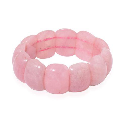 Rose Quartz Stretchable Bracelet (Size 7) 390.000 Ct.