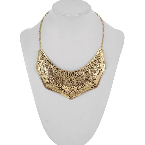 Jewels of India Handicraft Necklace (Size 16) in Gold Tone