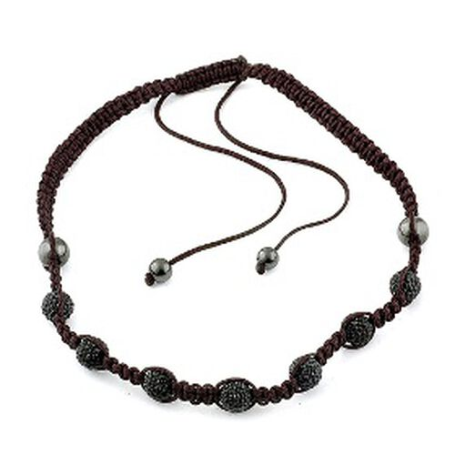 Black Austrian Crystal and Hematite Necklace (Adjustable)