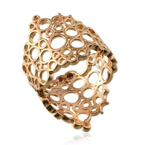 14K Gold Overlay Sterling Silver Ring, Silver wt 5.11 Gms.