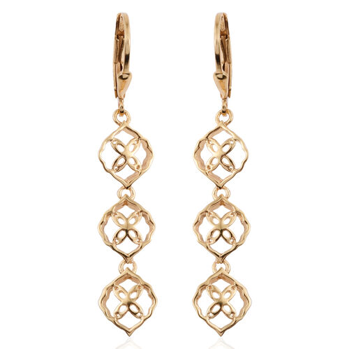 Kimberley Crimson Spice Collection 14K Gold Overlay Sterling Silver Lever Back Earrings, Silver wt 3.23 Gms.