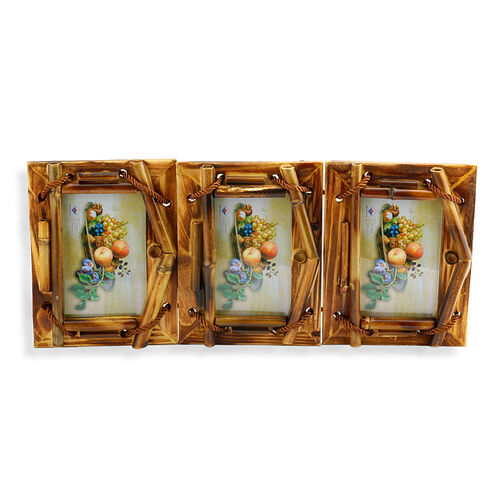 Set of 3 - Shell Hanging Photo Frame (Size 4x6 inch)