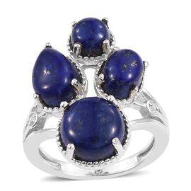 Lapis Lazuli (Rnd 4.15 Ct) Ring in ION Plated Platinum Bond 9.750 Ct.