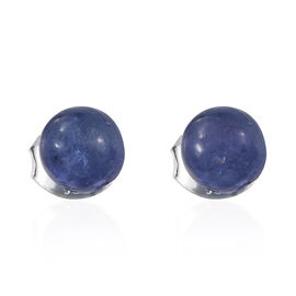 Tanzanite Ball Stud Earrings (with Push Back) in Sterling Silver 3.750 Ct.