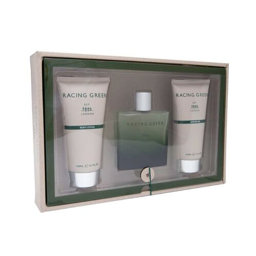 Racing Green Set- 100ml EDT, 150ml shower Gel and 150ml Body Lotion