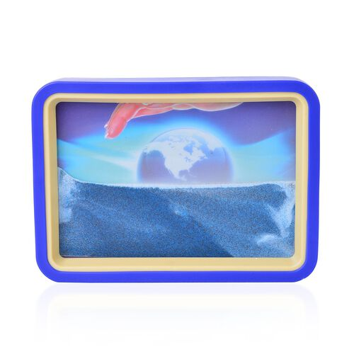 Home Decor - Earth Design Sand-Art Picture with Mirror on Back (Size 19.2X13.7X3 Cm)