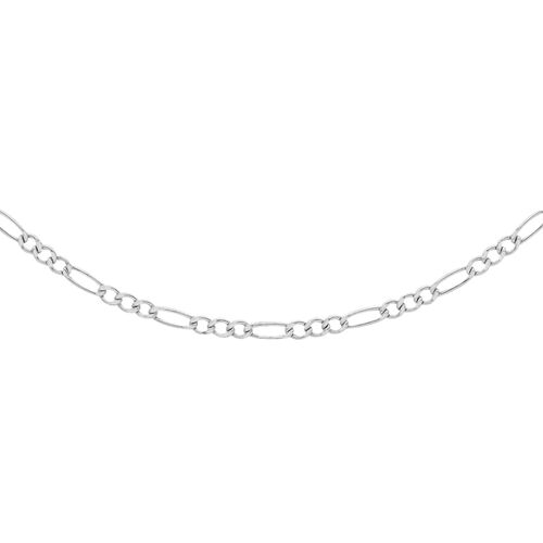 Vicenza Collection - Diamond Cut Figaro Chain in Sterling Silver (Size 18), Silver wt. 11.00 Gms.