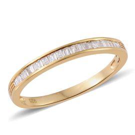 Diamond (Bgt) Ring in 14K Gold Overlay Sterling Silver 0.200 Ct.