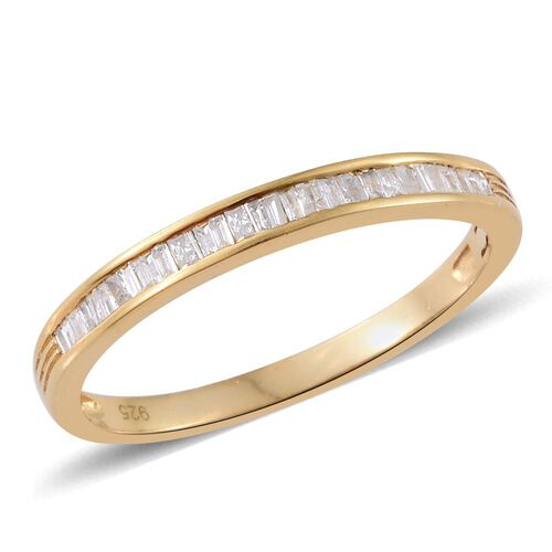 Diamond (Bgt) Ring in 14K Gold Overlay Sterling Silver 0.200 Ct.