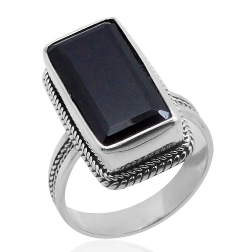 Royal Bali Collection Boi Ploi Black Spinel (Oct) Ring in Sterling Silver 14.540 Ct.