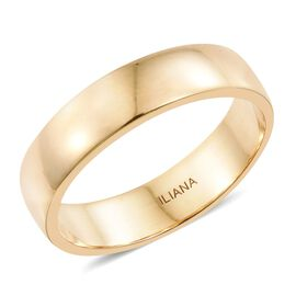 ILIANA 18K Yellow Gold Heavy D Shape 5mm Wedding Ring, Gold wt 5.30 Gms.