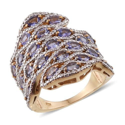 Tanzanite (Ovl) Ring in 14K Gold Overlay Sterling Silver 3.500 Ct.