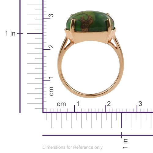 Mojave Turquoise (Ovl) Solitaire Ring in ION Plated 18K YG Bond 9.500 Ct.