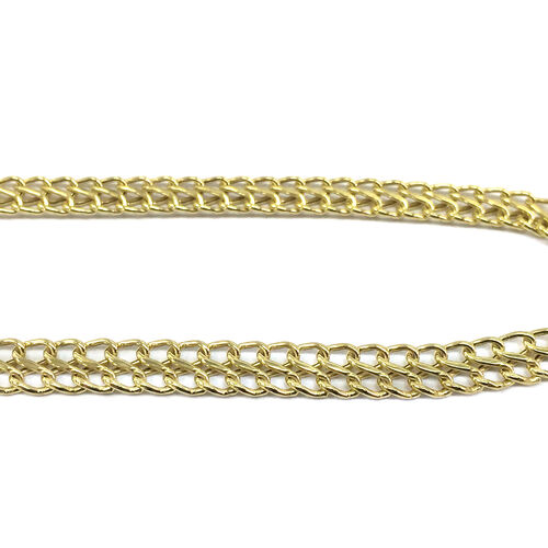 Royal Bali Collection 9K Yellow Gold Otto Necklace (Size 17 Inch), 5.70 Gms.