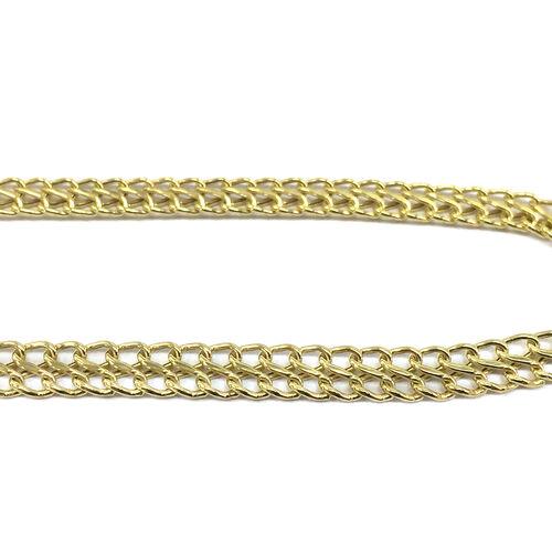 JCK Vegas Collection 9K Y Gold Double Curb Necklace (Size 17), Gold wt 12.00 Gms.