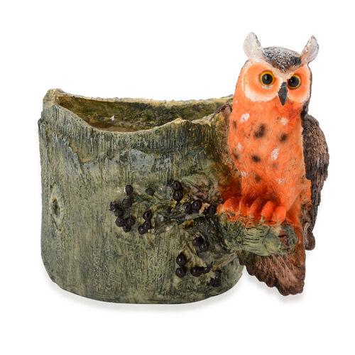 Home Decor - Orange and Brown Owl Vase