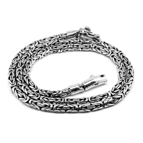 One Time Deal-Royal Bali Collection Sterling Silver Borobudur Necklace (Size 20), Silver wt 58.75 Gms.