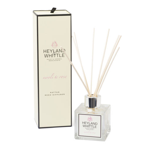 HEYLAND AND WHITTLE- Neroli and Rose Diffuser, Candle and Organic Soap