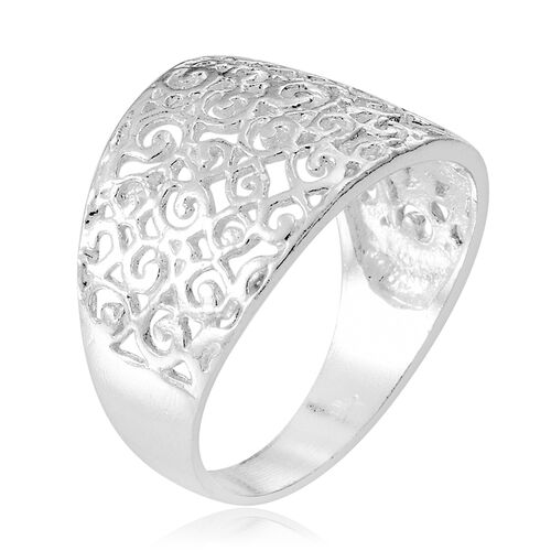 Thai Sterling Silver Filigree Ring, Silver wt 3.57 Gms.
