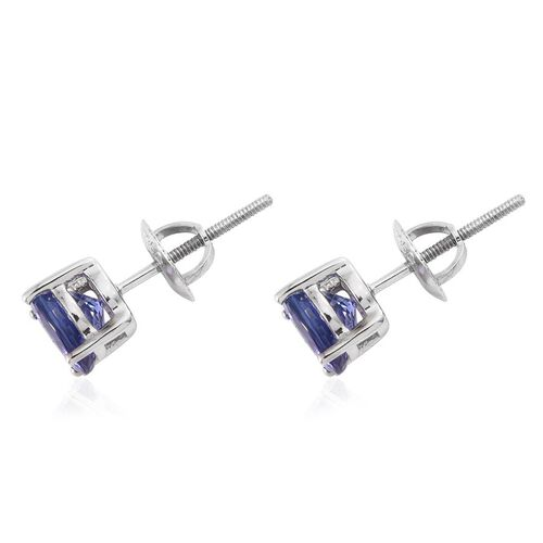 RHAPSODY 950 Platinum Tanzanite (Rnd) Stud Earrings 2.000 Ct.