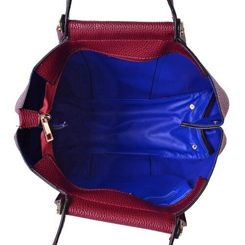 Burgundy Colour Tote Bag with Shoulder Strap (Size 33x30.5x13.5 CM)