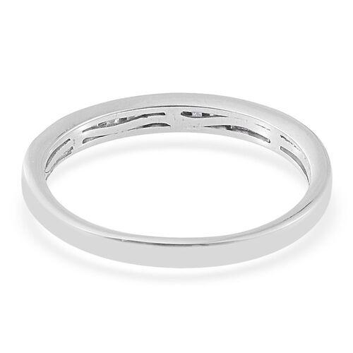 Diamond (Bgt) Ring in Platinum Overlay Sterling Silver 0.200 Ct.
