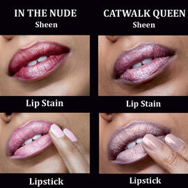Lip Dual Set of Two by Leighton Denny -Neutral In the Nude and Catwalk Queen- Estimated delivery within 5-7 working days
