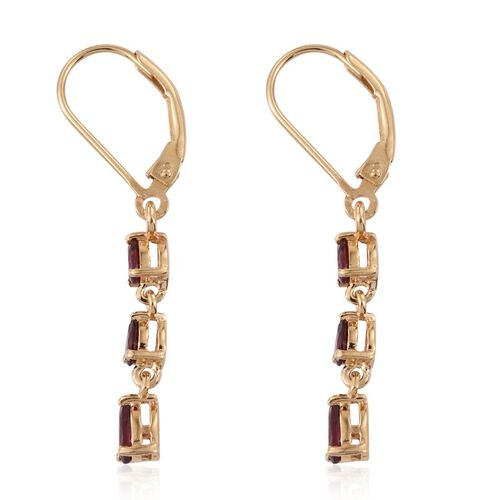 Mahenge Spinel (Pear) Lever Back Earrings in 14K Gold Overlay Sterling Silver 1.000 Ct.