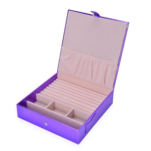 Purple Colour Jewellery Box (Size 23x23x6 Cm)