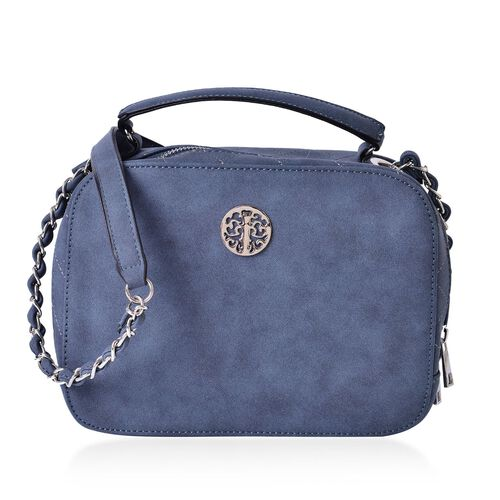 Navy Colour Crossbody Bag with Shoulder Strap (Size 23x17.5x8 Cm)