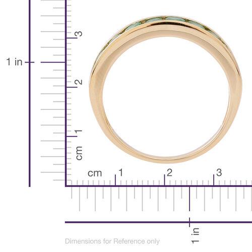 9K Y Gold AA Kagem Zambian Emerald (Rnd) Half Eternity Ring 1.000 Ct.