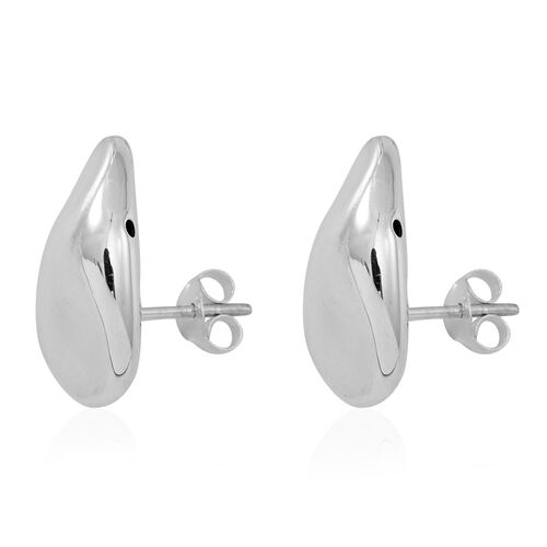 Thai Sterling Silver Stud Earrings (with Push Back), Silver wt 4.90 Gms.