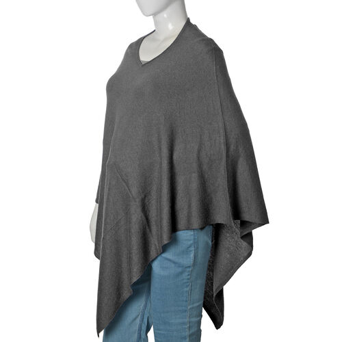 Limited Available - 100% Pashmina Wool Black Colour Poncho (Free Size)