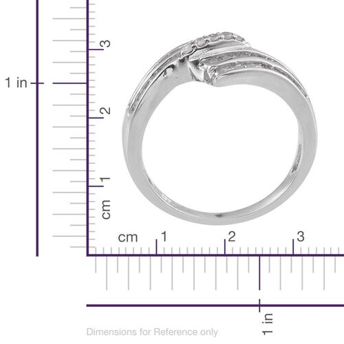 Diamond (Rnd) Ring in Platinum Overlay Sterling Silver 0.500 Ct.