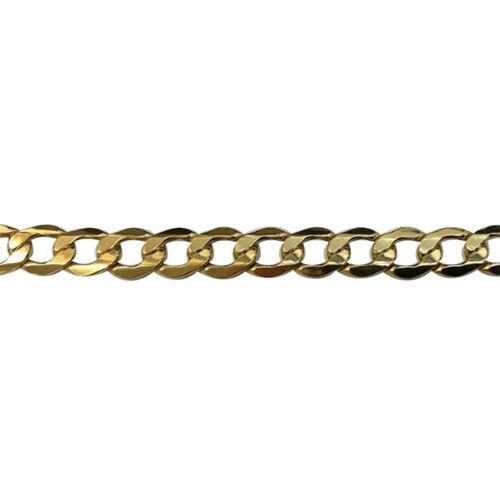JCK Vegas Collection 9K Yellow Gold Flat Curb Bracelet (Size 7.5), Gold wt. 5.20 Gms.